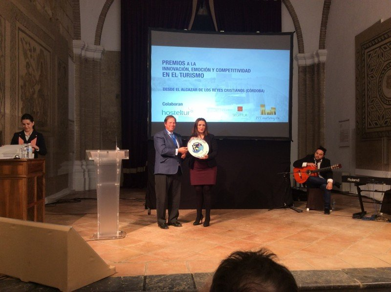 Entrega del premio a Extremadura por la campaña Extremely Good.
