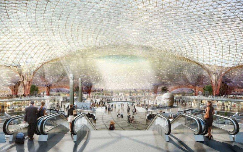 El diseño es del arquitecto británico Norman Foster.
