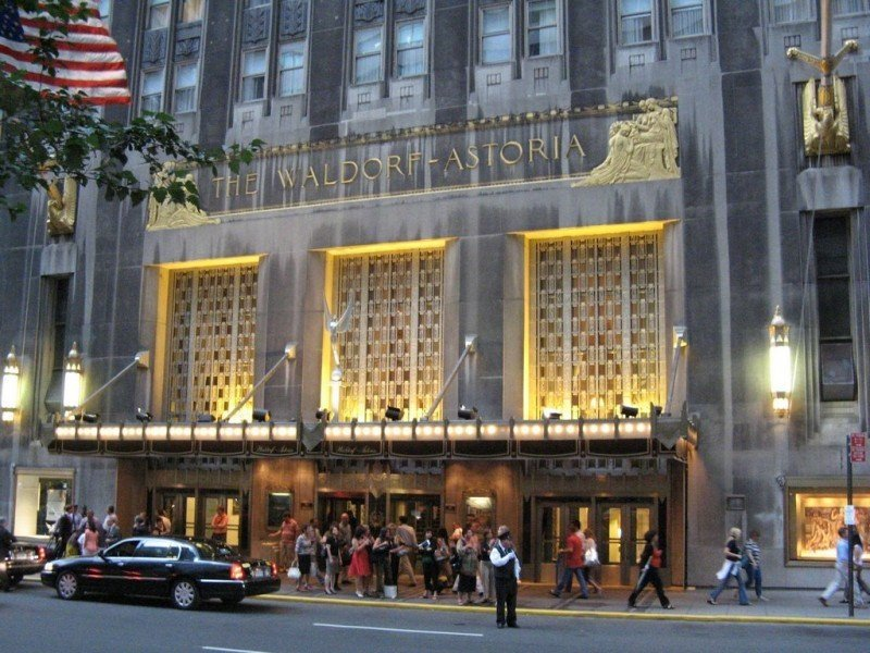 El hotel Waldorf Astoria de Nueva York.