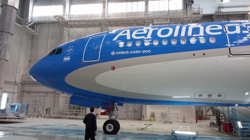 Aerolíneas Argentinas incorpora su primer A-330/200.
