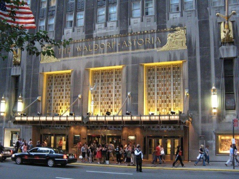 Hotel Waldorf Astoria de New York.