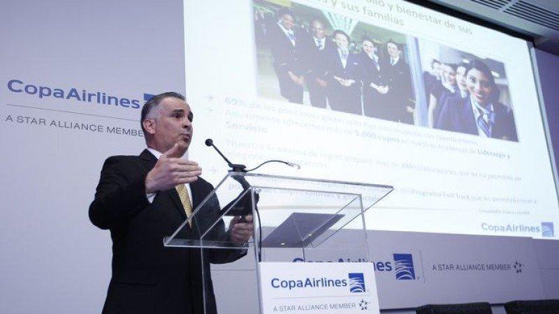 José Montero, vicepresidente de Finanzas de Copa Airlines. Foto: La Prensa de Panamá.