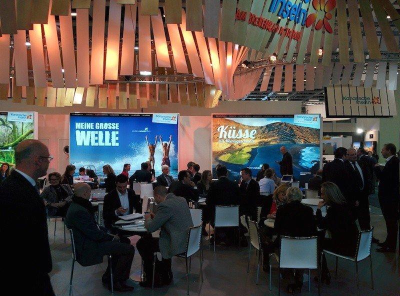 Una imagen del pabellón de Canarias en la feria ITB de Berlín.