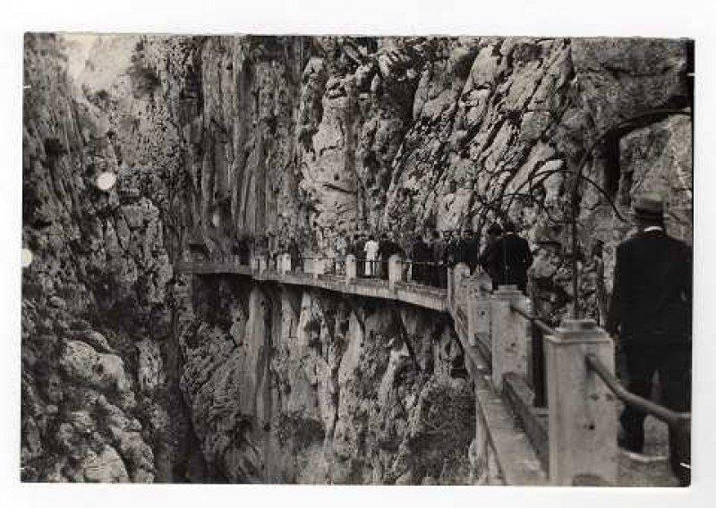 El Caminito del Rey, a principios del siglo XX.