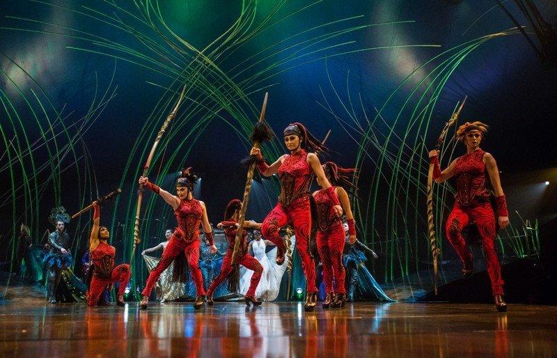 Uno de los espectáculos de PortAventura.