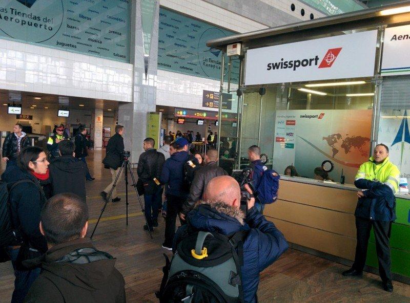 Oficina de Swissport en El Prat, que presta servicio en tierra a Germanwings.