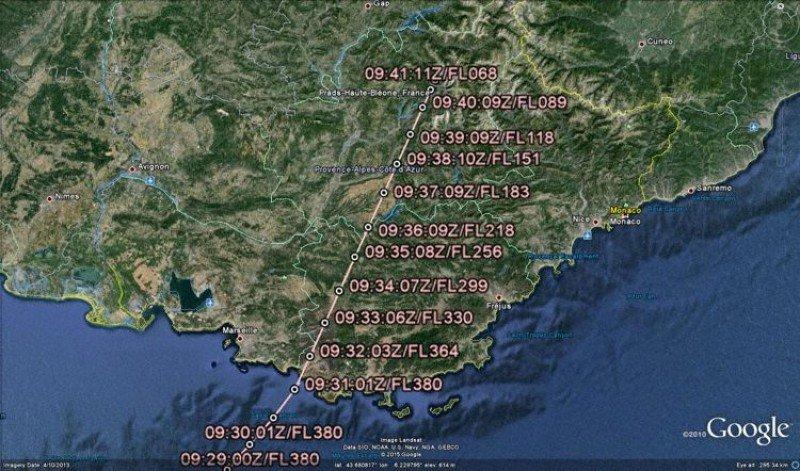 Los movimientos del vuelo siniestrado paso a paso, monitorizados por radar.