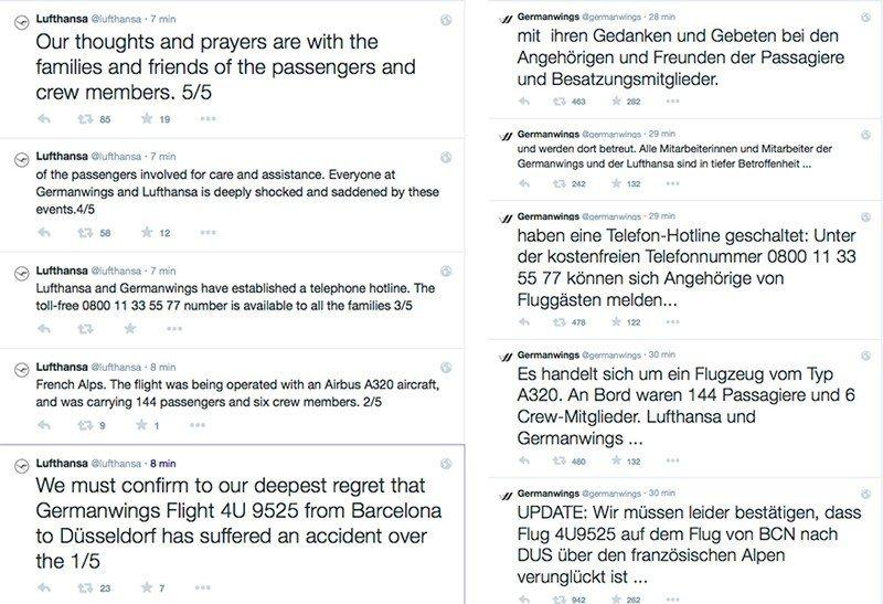 Germanwings redes sociales
