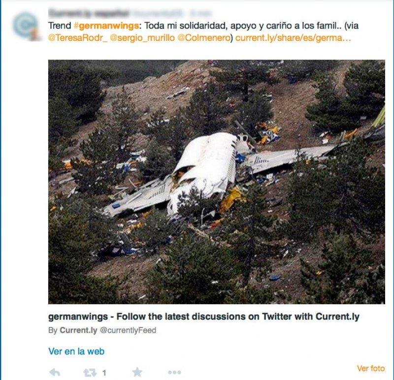 Accidente de Germanwings, tendencia mundial en Twitter