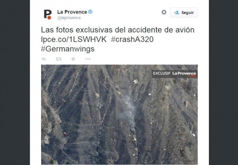 Foto de la zona del accidente.