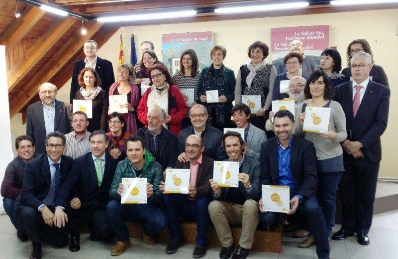 Entrega de acreditaciones a las empresas de la Vall de Boí especializadas en turismo familiar.