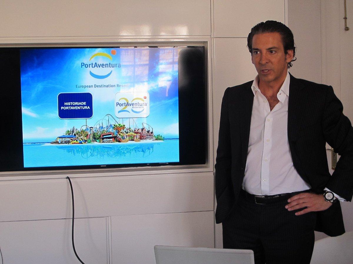 Luis Herault, durante la presentación celebrada en las oficinas de PortAventura en Madrid.