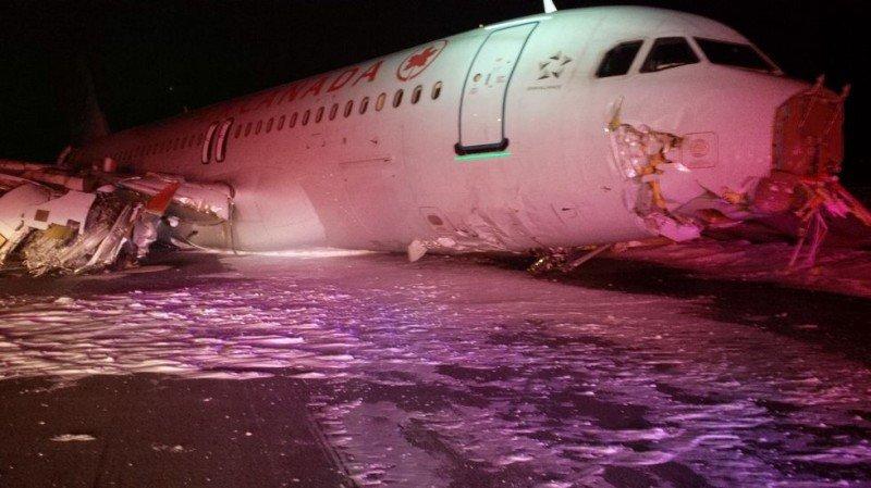 El aterrizaje forzoso de un avión de Air Canadá deja 18 heridos leves