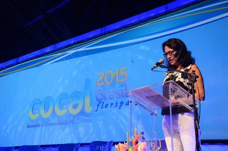 Graciela Sánchez, presidenta de Audoca, en el congreso Cocal 2015 de Florianópolis. Foto: Cocal