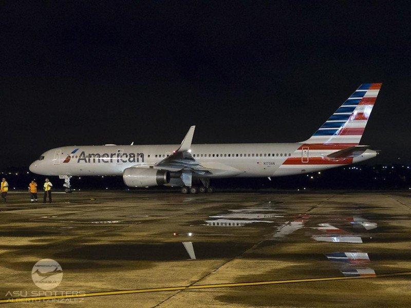 Último vuelo de American desde Asunción. Foto: Aeronáutica_Py