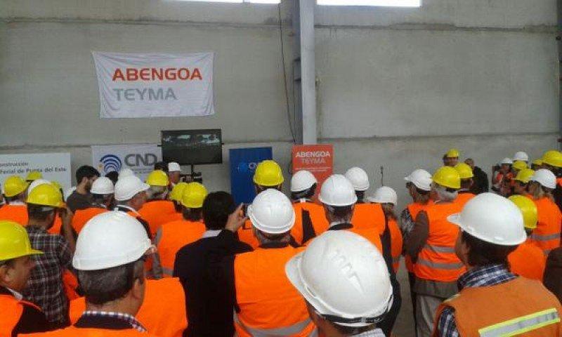 Visita de autoridades a las obras del Centro de Convenciones de Punta del Este.