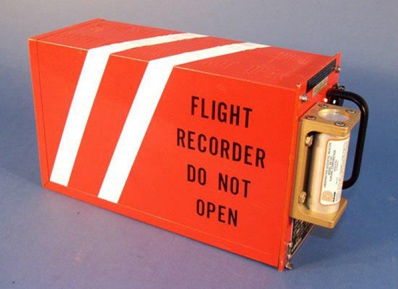 Imagen de archivo de una caja negra de aviación.