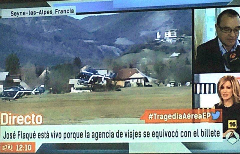 Titular de Antena 3: 'José salvó la vida porque la agencia se equivocó con el billete'.