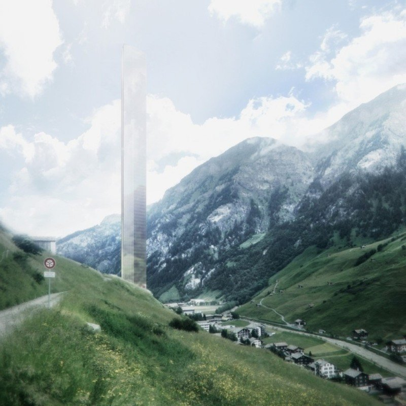 Así será el hotel más alto del mundo que se construirá en la ciudad suiza de Vals, en los Alpes.