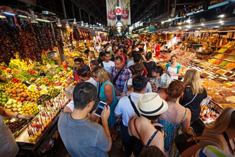 El mercado municipal de La Boqueria, Barcelona. #shu#