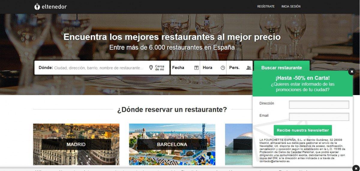 ElTenedor cuenta con una red de más de 20.000 restaurantes y está presente en ocho países: Francia, España, Bélgica, Holanda, Suiza,Italia, Portugal y Brasil.