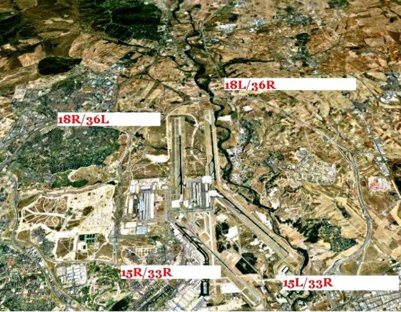 La pista más larga de Barajas será paralizada un mes por renovación
