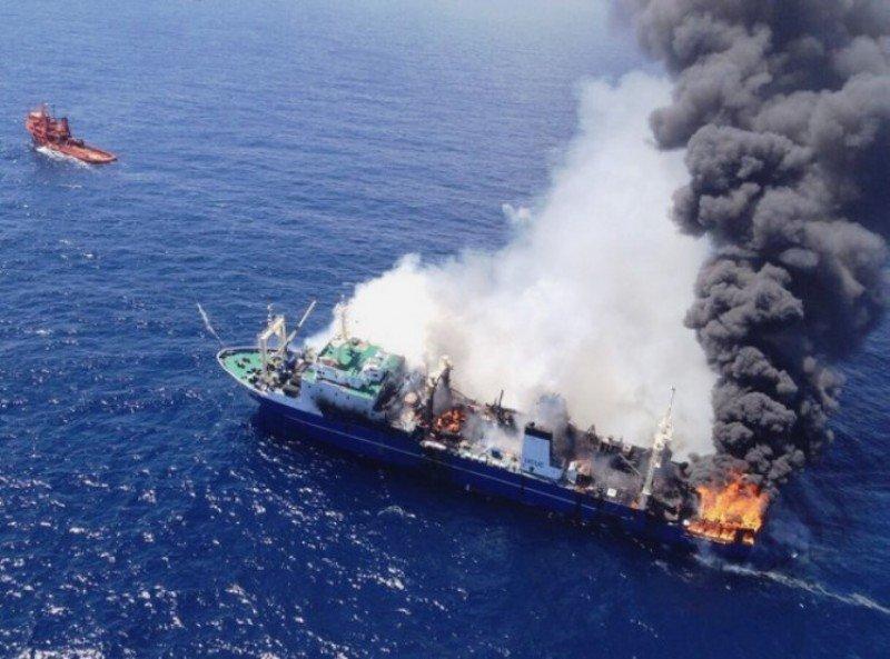 Un pesquero ruso se hunde al sur de Gran Canaria con toneladas de combustible