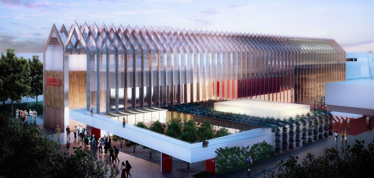 España participa en la Expo de Milán con pabellón propio, una edificación en madera de más de 2.000 metros cuadrados.