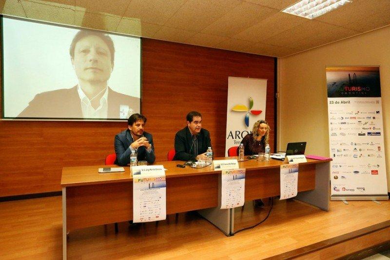 Presentación de Futurismo Canarias 2015, que se celebra en Arona, Tenerife, el 23 de abril.