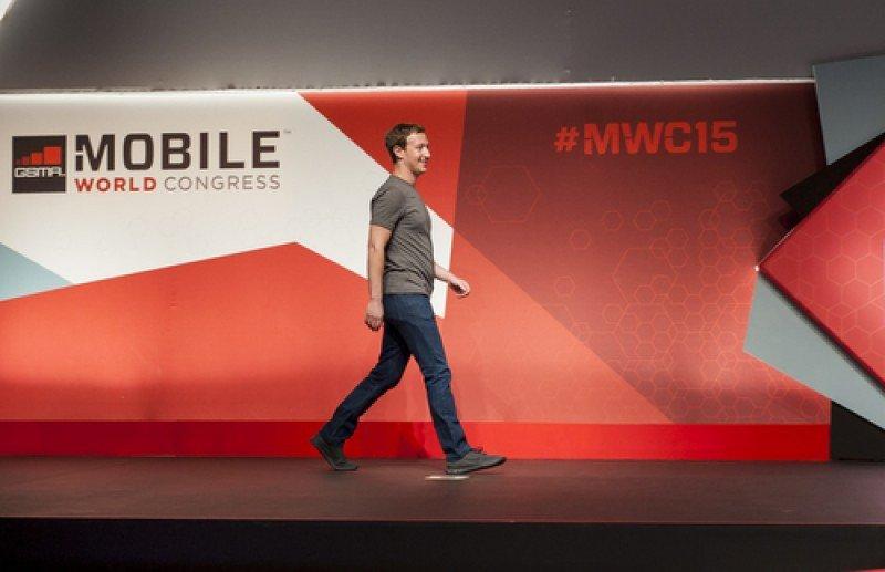 Mark Zuckerberg, fundador de Facebook, fue uno de los participantes en el MWC 2015 celebrado en Barcelona el pasado marzo. #shu#
