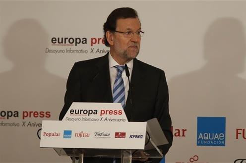 Mariano Rajoy ha participado hoy en los Desayunos Informativos de Europa Press, que celebran su décimo aniversario.