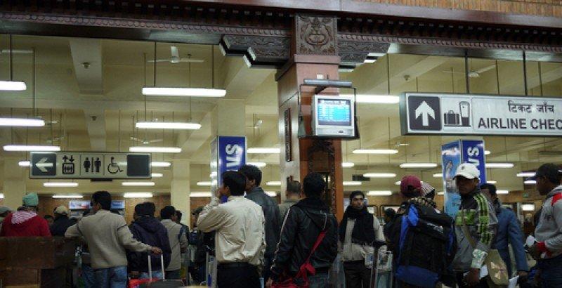 Aeropuerto de Katmandú, Nepal. #shu#