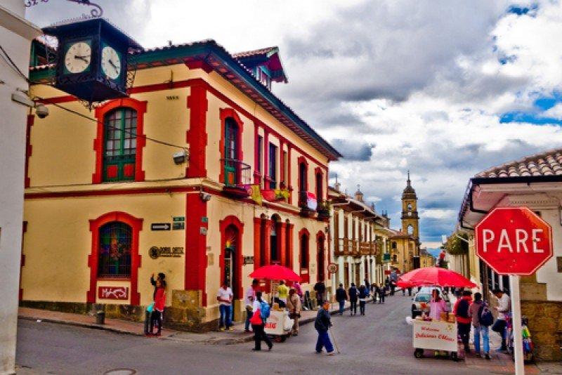 Distrito histórico y cultural de La Candelaria, en Bogotá. #shu#