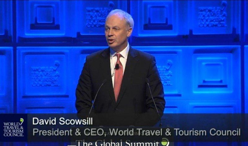 David Scowsill, presidente del WTTC, en la inauguración de la cumbre en Madrid.