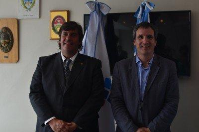 Fabricio Di Giambattista (presidente FAEVYT) y Gustavo Sambucetti (presidente CACE).