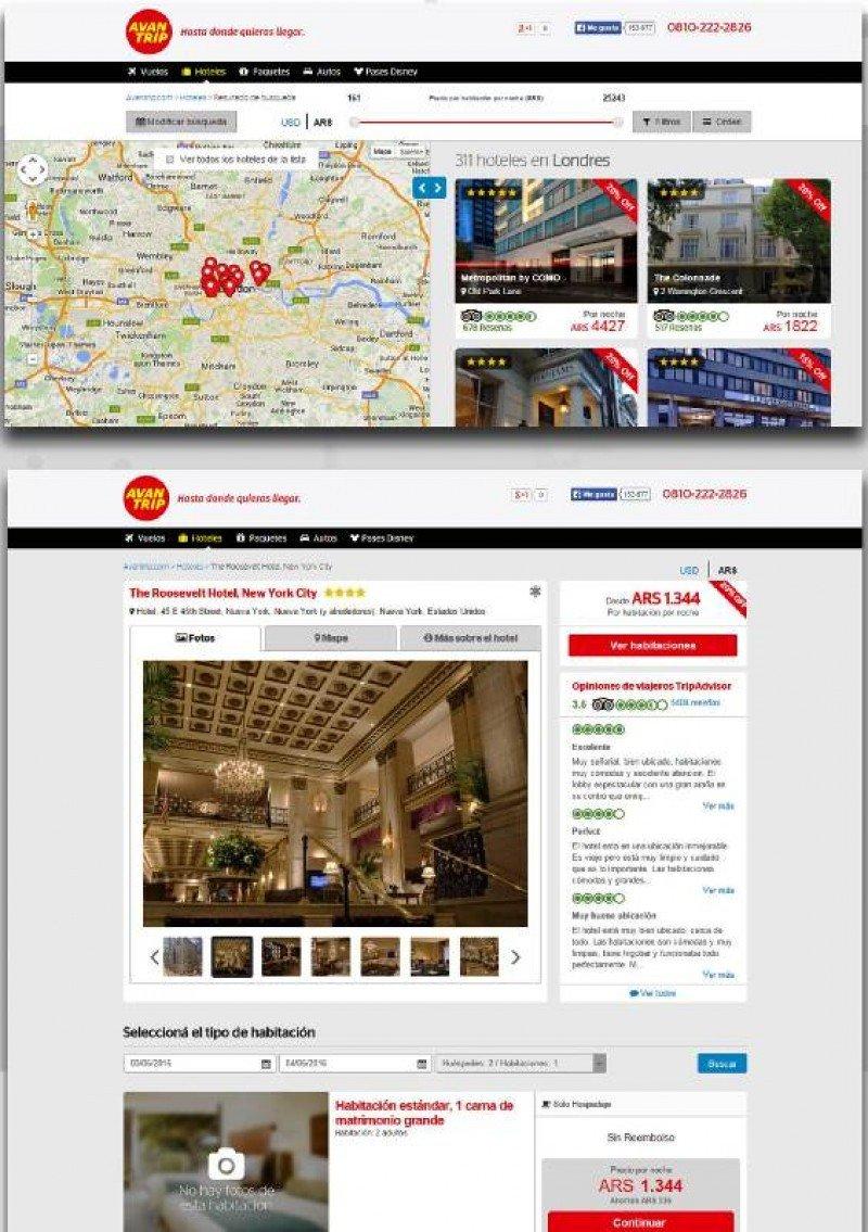 Agencia online Avantrip lanzó su nueva plataforma de hoteles
