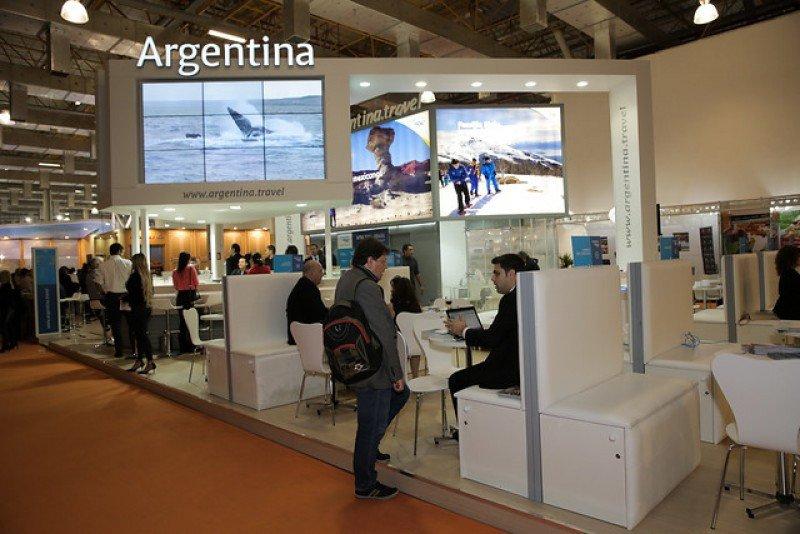 Stand de Argentina en WTM Latin America 2015.