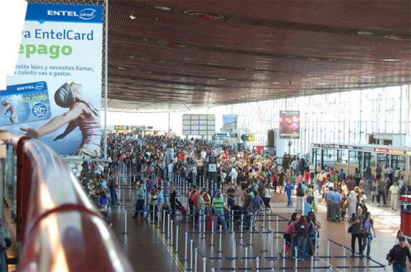 Aeropuerto de Santiago de Chile.