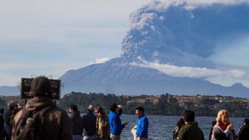 Tercera erupción del Calbuco. (Foto: Twitter Ahora Noticias).