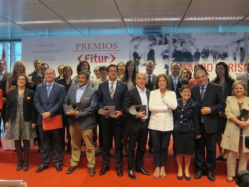 En el acto estuvieron presentes la alcaldesa de Madrid, Ana Botella; el presidentes del comité organizador de Fitur y de Iberia, Luis Gallego, y la directora de Fitur, Ana Larrañaga.