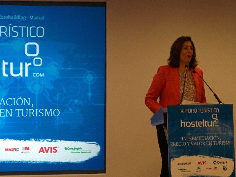 La secretaria de Estado de Turismo, Isabel Borrego, en la clausura del Foro Hosteltur.