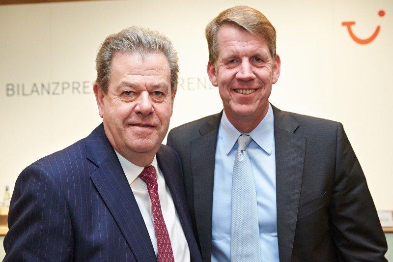 Los CEO del grupo, Peter Long y Fritz Joussen.