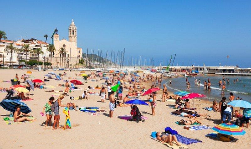 Playa de Sitges, localidad de la provincia de Barcelona. #shu#