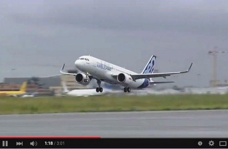 El Airbus A320neo con nuevos motores despega por primera vez (vídeo)