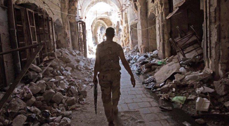 Destrucción de sitios históricos por la guerra en Siria.