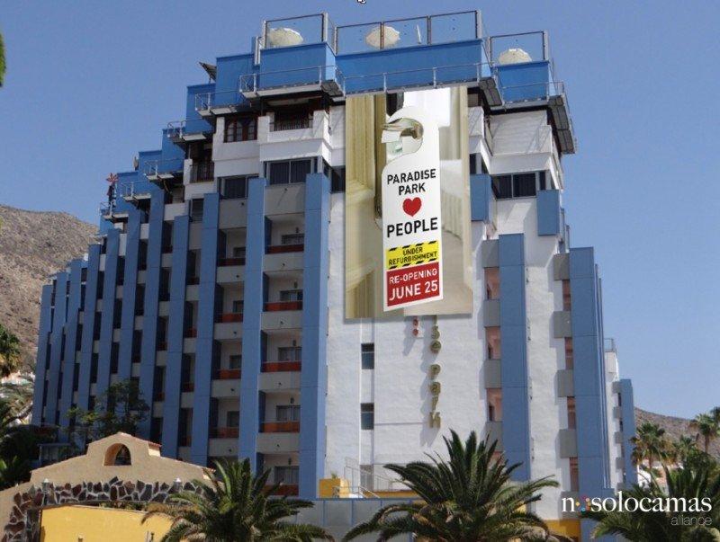 El hotel Paradise Park, en Los Cristianos, invertirá 2,4 M € en la primera fase de la renovación de sus instalaciones.