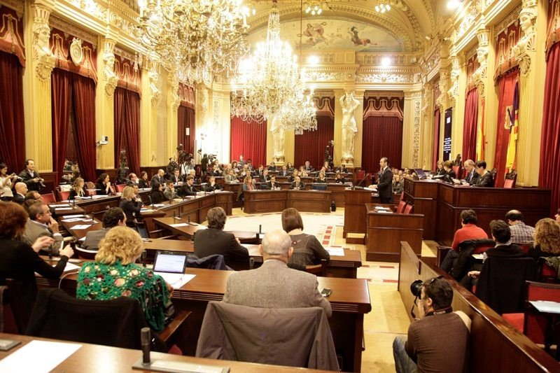 Imagen de archivo del Parlamento balear.