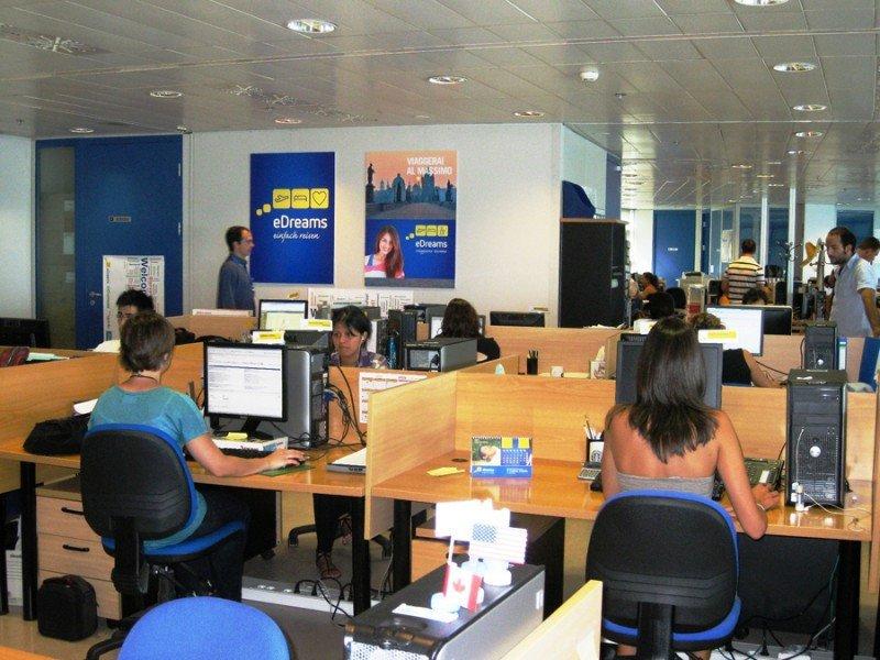 Sede de eDreams Odigeo, en el World Trade Center de Barcelona.