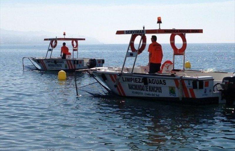 La Costa del Sol tendrá que recurrir a los barcos quita natas un año más