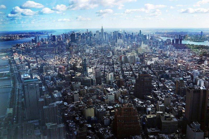 Vista de Nueva York desde el nuevo Observatorio del One World Trade Center.